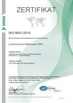 Zertifikat Rezert ISO 9001_2015